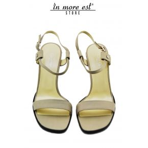 SANDAL MEDIUM CALFSKIN DOVE GREY