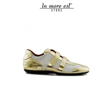 ALLAC CASUAL LOW GOLD/WHITE STRAP SIDE