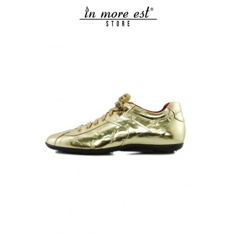 ALLAC CASUAL LOW LEATHER GOLD SHINY CREST PACIOTTI