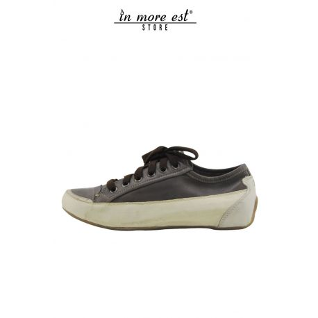 SNEAKERS LOW LEATHER CREAM/MILITARY CONNECTION ANKLE