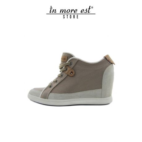 SNEAKERS WITH INNER WEDGE TAUPE