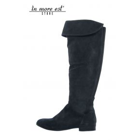 LOW BOOT LEG HIGH SUEDE BLUE