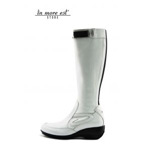 LOW BOOT SPORTS WHITE PAINT HIGH UPPER PLAC METAL ARG SW LOGO AG SIDE