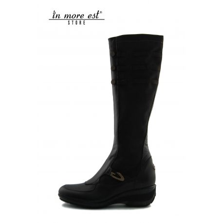 LOW BOOT BROWN SPORT CALF ELASTIC AROUND THE CALF PLAC.LOGO.AG/BOTT METAL POLISHED AND SW