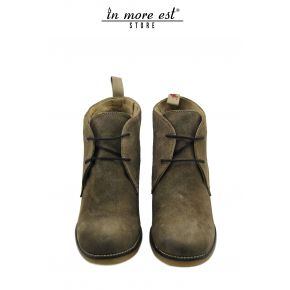 SOCKET MEDIUM ALLAC SUEDE TAUPE BOTTOM RUBBER DOVE GREY