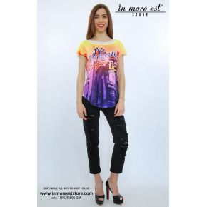 T-SHIRTS WITH YELLOW PRINT YUPPIES NY POLY