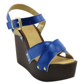 WEDGE PAINT BLUE BOTTOM WOOD ISLO ISABELLA LORUSSO