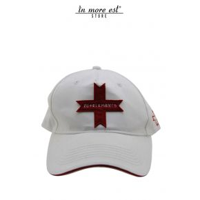 HAT CLASSIC WHITE COTTON LOGO RED CROSS ZUELEMENTS