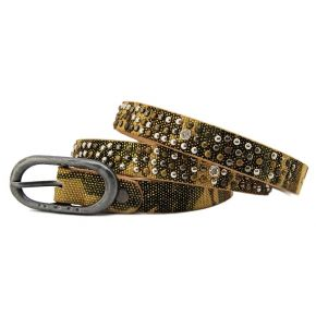 BELT NAPPA CAMOUFLAGE STUDS AND RHINESTONES