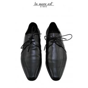 ELEGANT ALLAC BLACK CALF MICROTRAFORATA SIDE