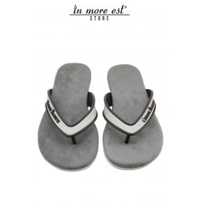 FLIP FLOPS GRAY STRAP GREY RUBBER SITE CESARE PACIOTTI INSOLE SUEDE GREY BOTTOM GREY RUBBER