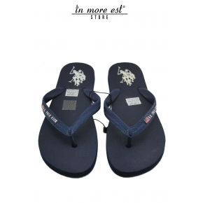 FLIP FLOPS SEA BLUE RUBBER LOGO US POLO