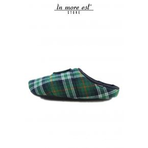 SLIPPER HOUSE THE SCOTTISH GREEN COTTON WARM