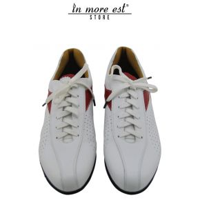 ALLAC CASUAL LOW WHITE/RED CALF, WHITE