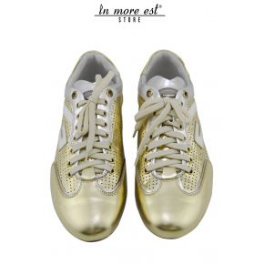 ALLAC CASUAL LOW LAMIN GOLD/ARG LOGO G WHITE PAINT
