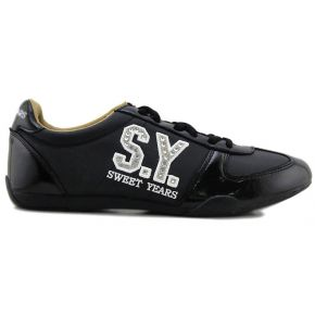 SNEAKER LOW-BLACK PAINT LUCID BOTTOM BLACK RUBBER LOGO SY SILVER