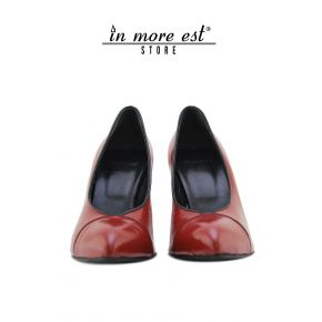 DECOLLETE' TOP-TIP RED PATENT TRIM BLACK HEEL PLASTIC RED