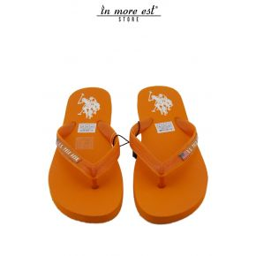 FLIP FLOPS SEA ORANGE RUBBER LOGO US POLO