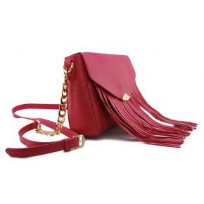 Bolso de hombro del bolso de embrague de la envolvente de Liu Jo queros fucsia azalea