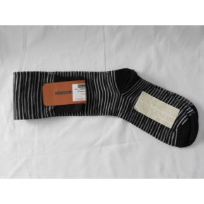 SOCKS LUNHI BLACK LINES WHITE/GREY