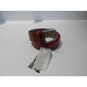 BELT COCONUT RED VEINS ON THE BLACK BUCKLE METAL ARG VINTAGE