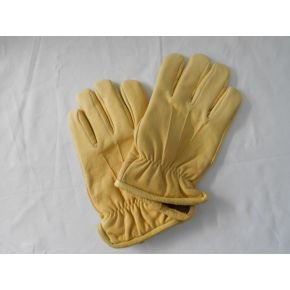 GLOVES YELLOW LEATHER