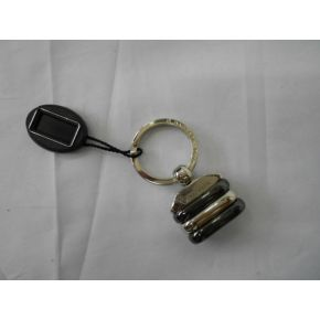 KEYCHAIN METAL ARG/POLISHED