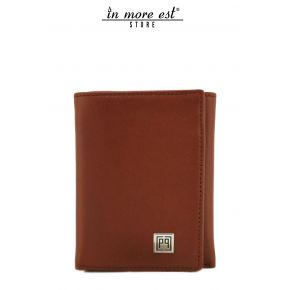 SMALL WALLET WITH FLAPS LEATHER PLAC METAL ARG LOGO PIGNATELLI