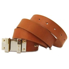 AVERAGE BELT CAMIL LEATHER PLAQUE METAL GOLD LIU JO