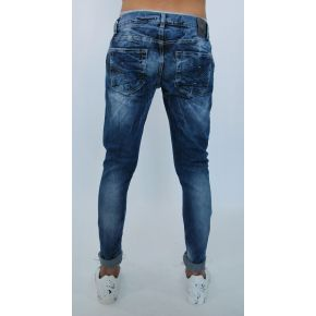 JEANS ELAST WITH SINGLE POCKET THREAD LAVAG LIGHT BLUE