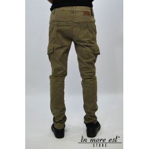 PANTS BROWN CARGO POCKETS REGULAR FIT
