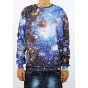 SWEATSHIRT SINT CORNFLOWER BLUE STARRY SKY CREWNECK