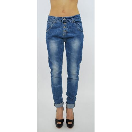 BLUE JEANS STRETCH LOW CROTCH WASHED CLEAR