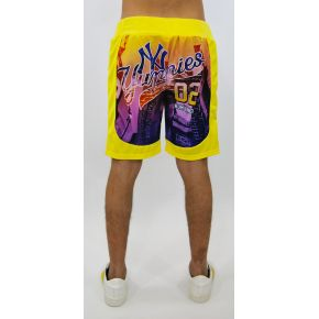 SHORTS POLY GELB YUPPIES NY DRUCKEN