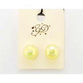 EARRINGS PEARL IVORY MIRRORED