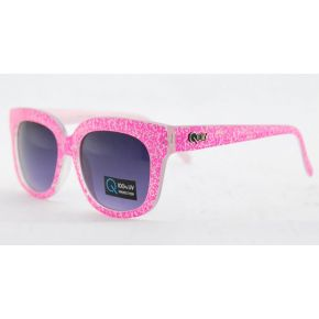 SUNGLASSES QUAY FUCHSIA SPOTTED TRANSPARENT UNISEX