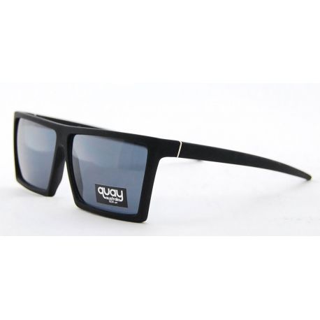 SUNGLASSES QUAY MATTE BLACK SQUARE UNISEX