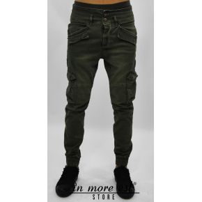 PANTS POCKETS ARMY GREEN ELASTIC ANKLE