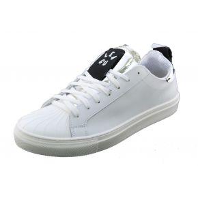 Sneakers bassa bianca Lea Gu in pelle