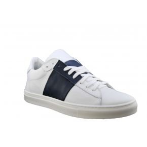 Sneakers low blue and white Lea Gu in the skin