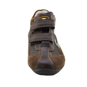 SNEAKERS LOW CAMOSC/TESS BROWN ALLAC STRAP BOTTOM RUBBER MARR G LOGO