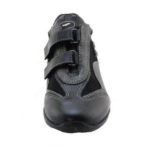 SNEAKERS LOW VITEL/TESS-BLACK/GREY ALLAC STRAP BOTTOM BLACK RUBBER G LOGO