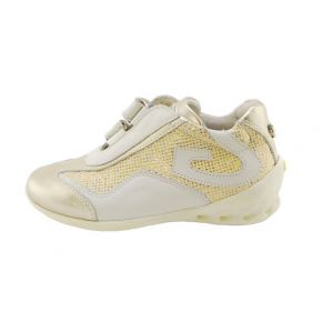 SNEAKERS LOW VITELL.LAM/TESS GOLD/CREAM ALLACC STRAP BOTTOM RUBBER CREAM G LOGO