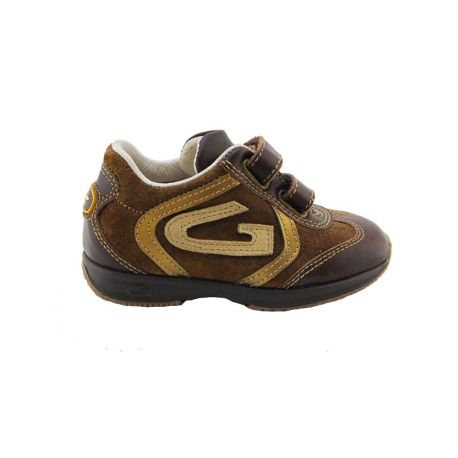 SNEAKERS LOW CALF/CAMOSC BROWN INSERTS LAMIN GOLD ALLAC STRAPP BOTTOM RUBBER MARR G LOGO