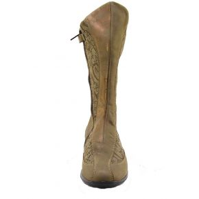 BOOT VITEL/TESS DOVE-LEG UP THE BOTTOM RUBBER MARR ZIP G LOGO RHINESTONES