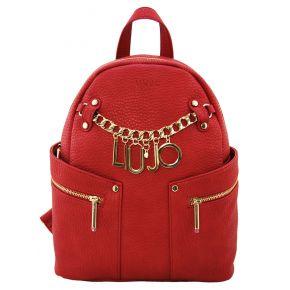 Mochila de Liu Jo m1 bolsa de nylon rojo
