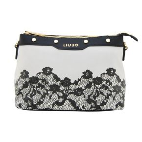 Bag tracollina Liu Jo xs creating harmony of grey printed lace up black