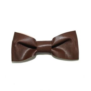BOW TIE LEATHER BROWN - SLIM SERIES