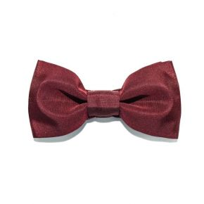 BOW TIE RED SATIN - SLIM SERIES