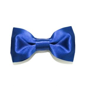 BOW TIE BLUE SATIN - SLIM SERIES